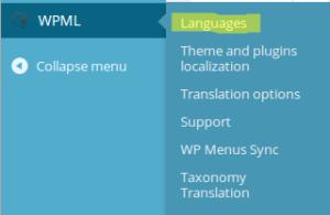 WPML Languages